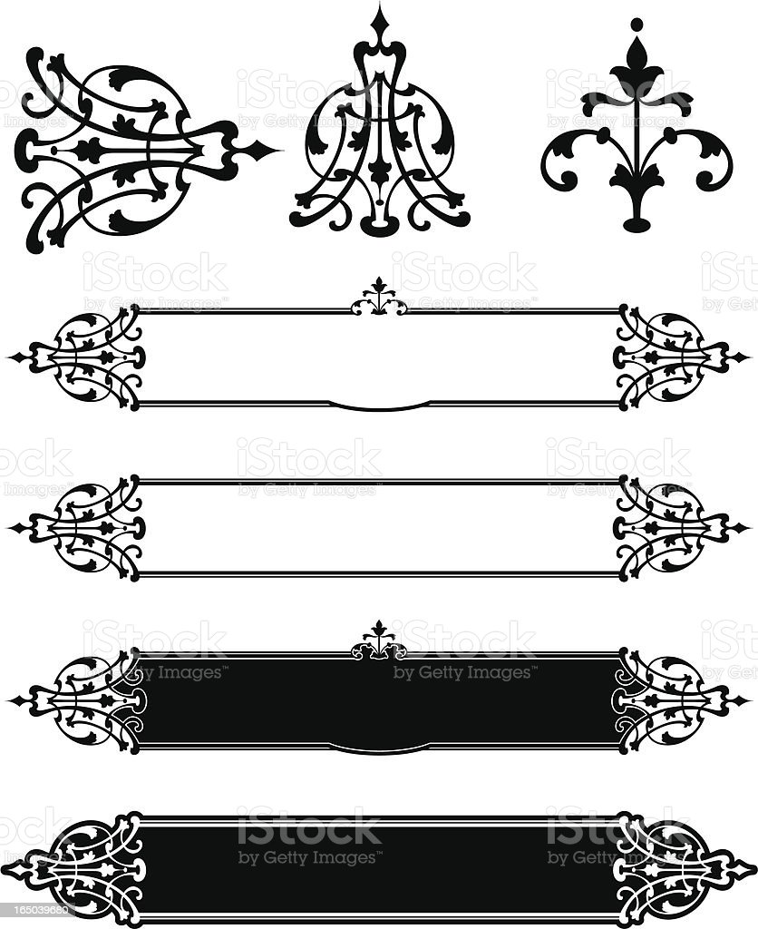 Victorian Panels and Scrolls royalty-free stock vector art