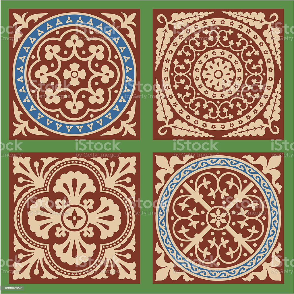 Victorian Patterns Set One royalty-free stock photo