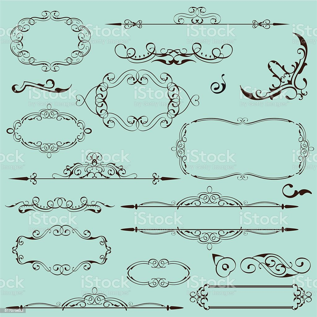 Victorian perfect set vector art illustration
