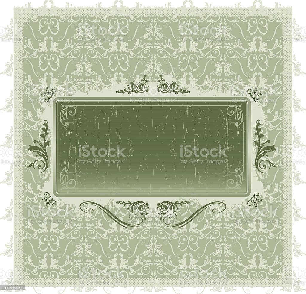 victorian plaque rectangle royalty-free stock vector art