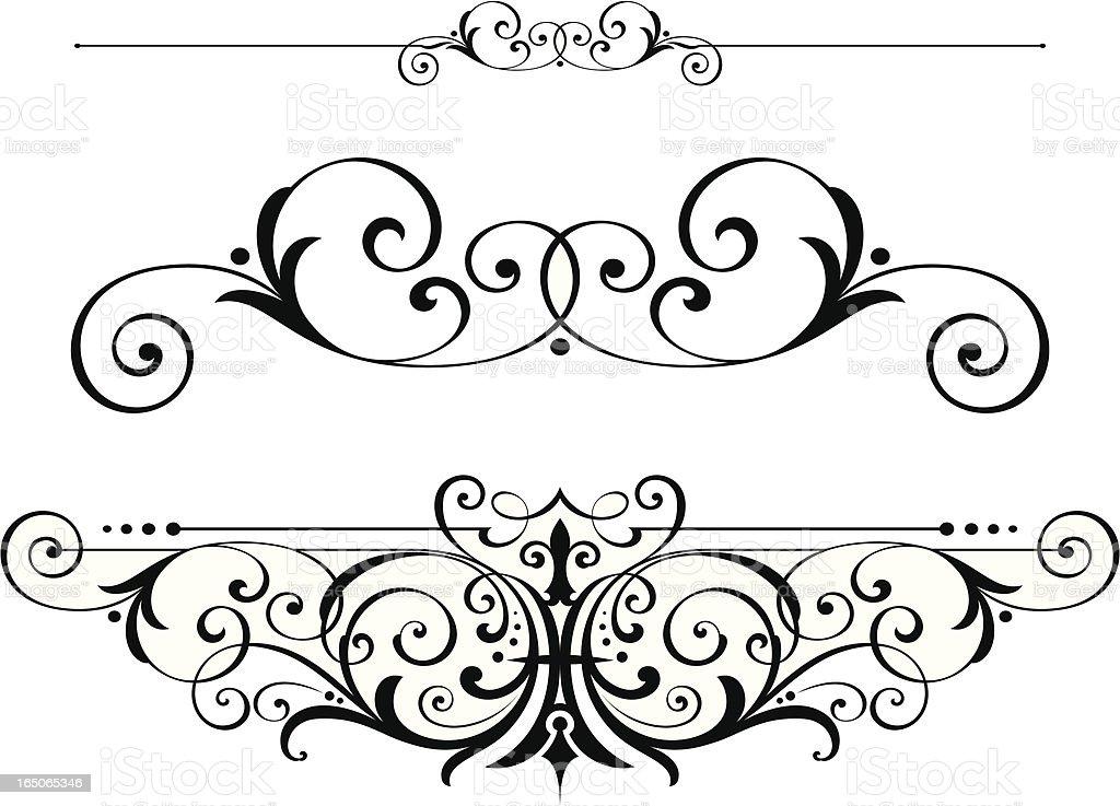 Victorian Scrolls and Ruleline vector art illustration