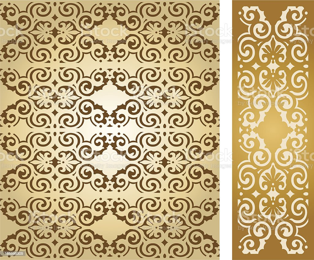 Victorian Seamless pattern background royalty-free stock vector art