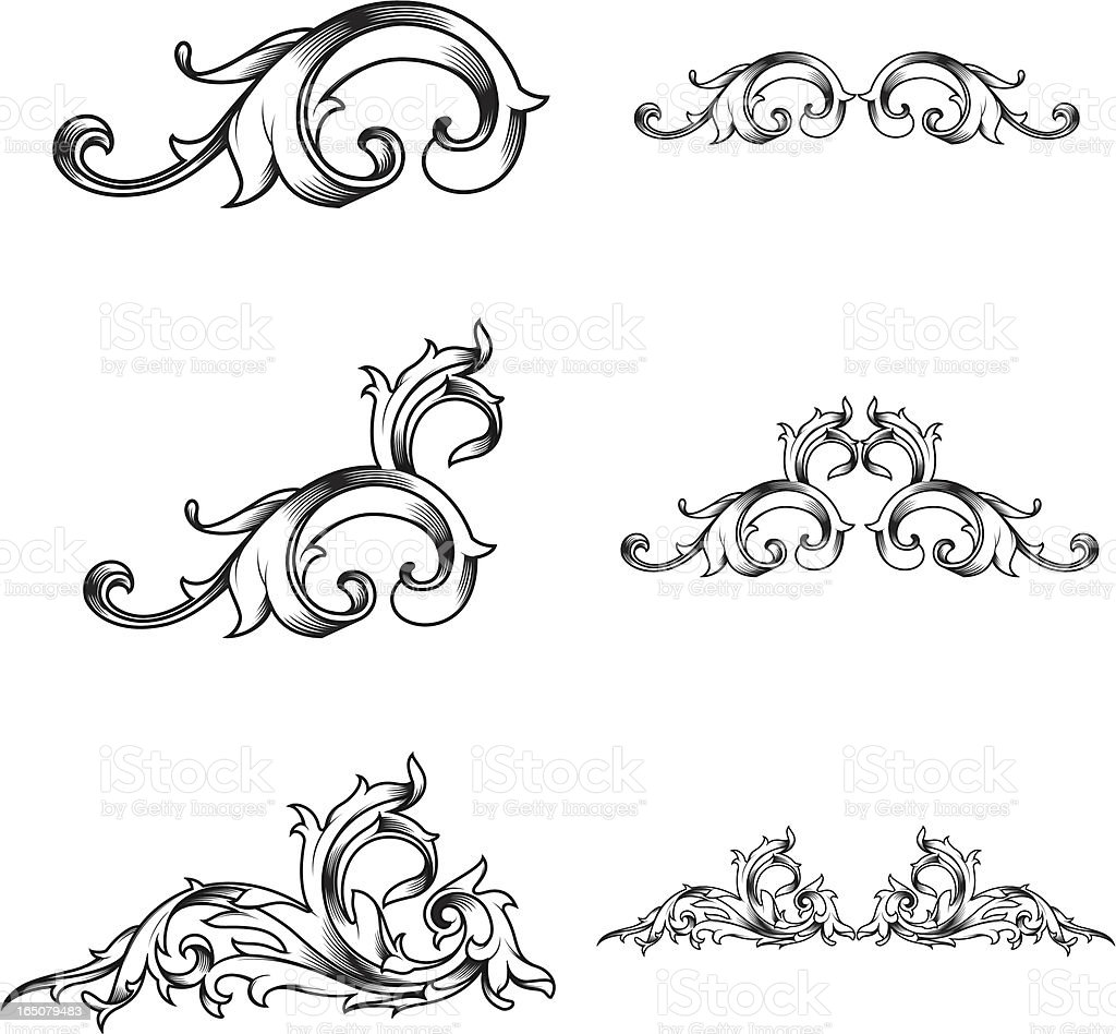 victorian set royalty-free stock vector art