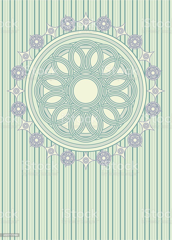 victorian style background with rosette royalty-free stock vector art