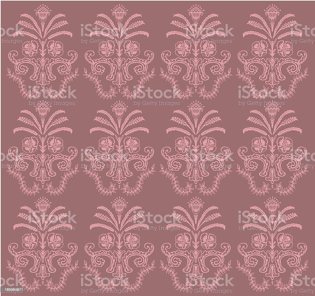 Victorian Style Design Wallpaper royalty-free stock vector art
