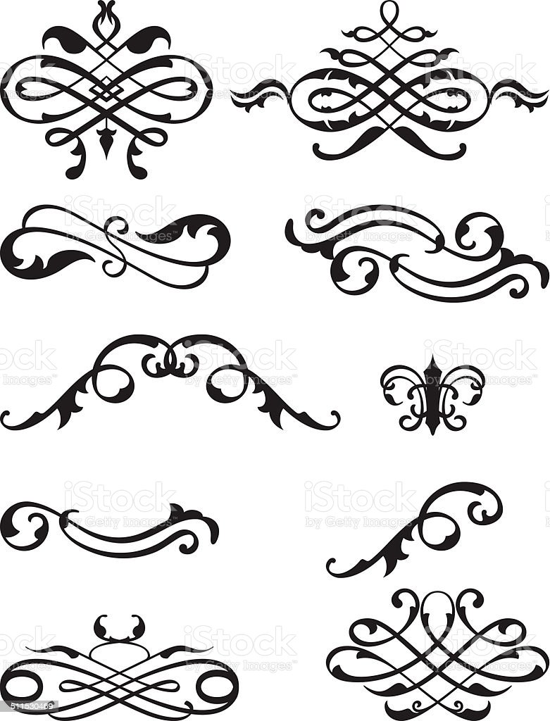 Victorian super set vector art illustration