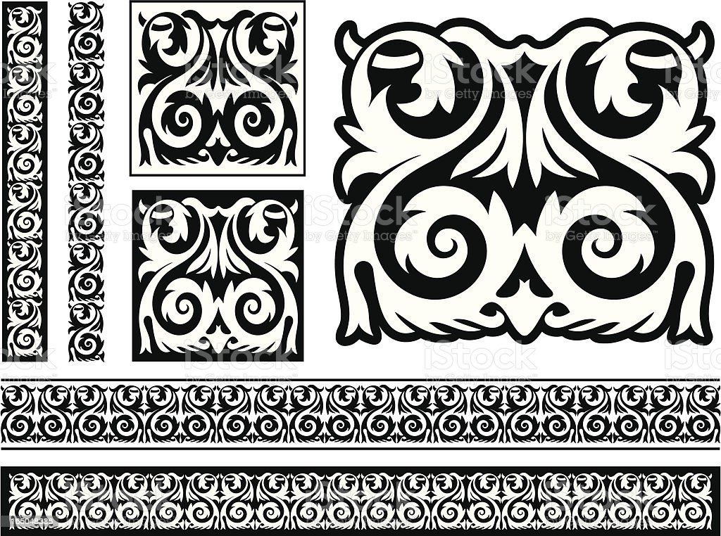 Victorian Tile and Frieze Design royalty-free stock vector art