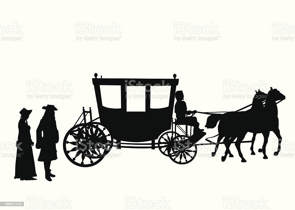 Victorian Vector Silhouette vector art illustration