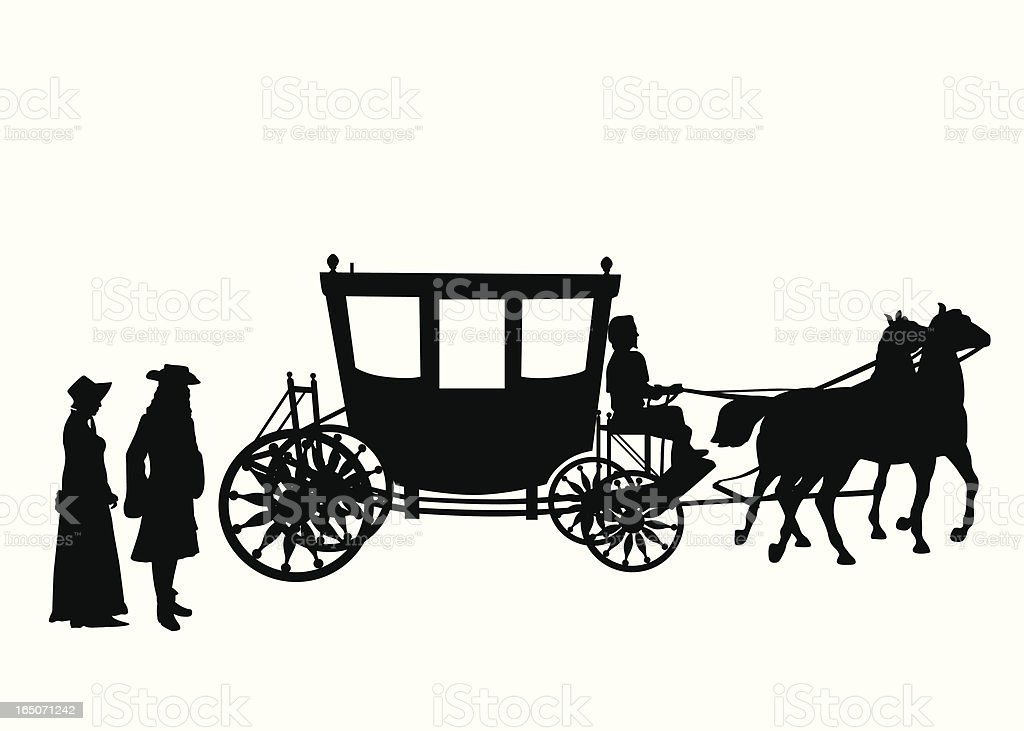 Victorian Vector Silhouette vector art illustration