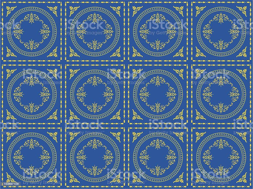 victorian wallpaper pattern royalty-free stock vector art