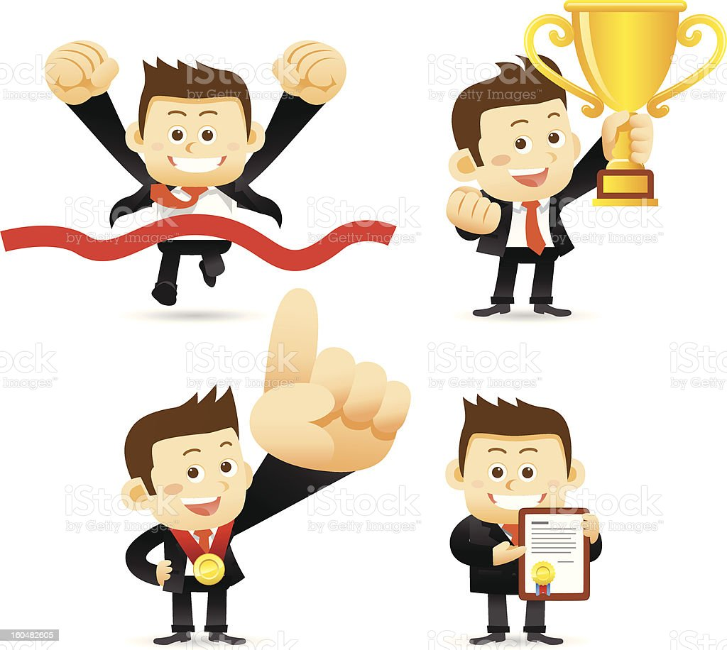 Victorious Businessman royalty-free stock vector art