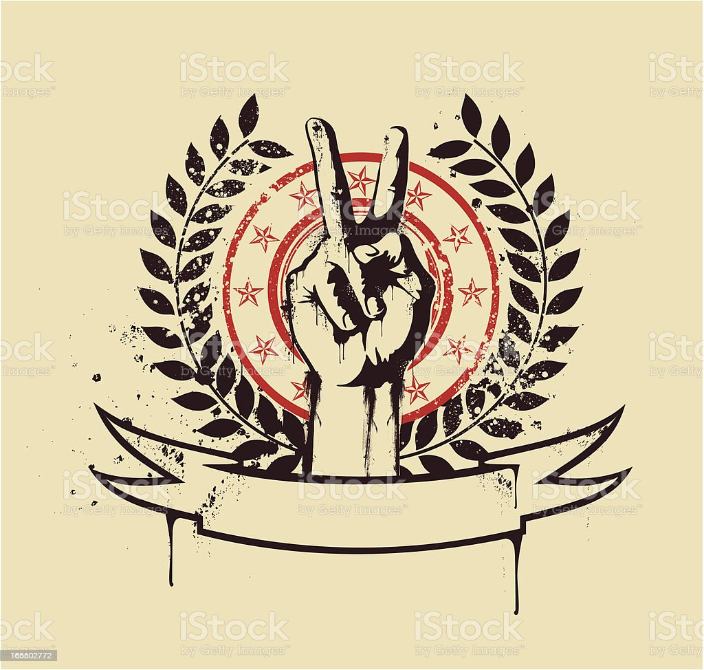 Victory emblem royalty-free stock vector art