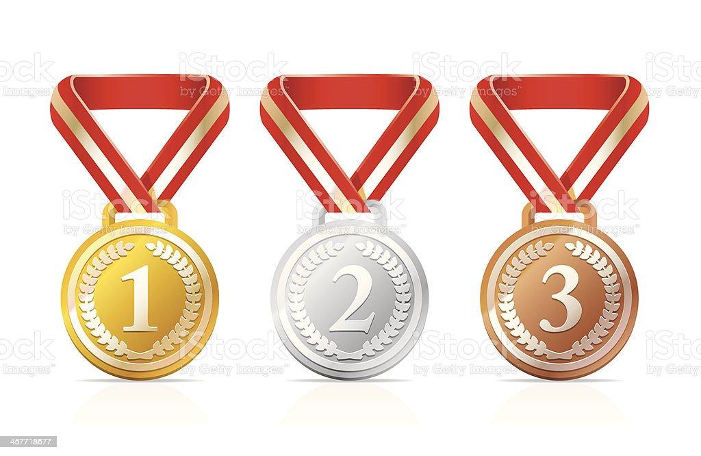 Victory medals vector art illustration