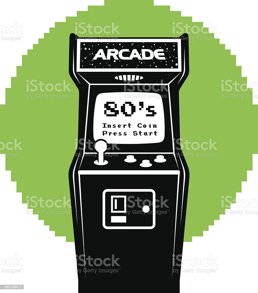 Video Arcade Machine vector art illustration