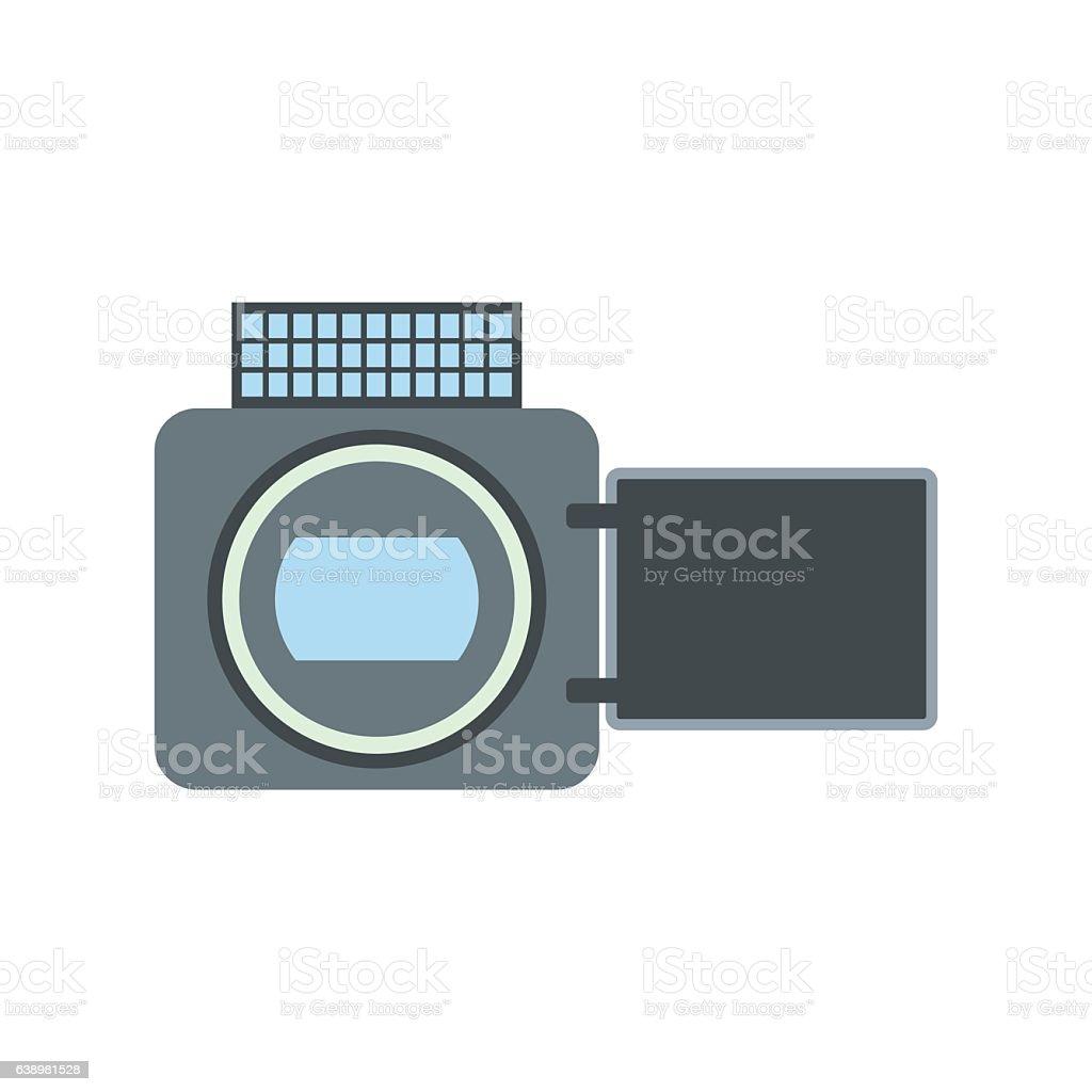 Video camera flat icon vector art illustration