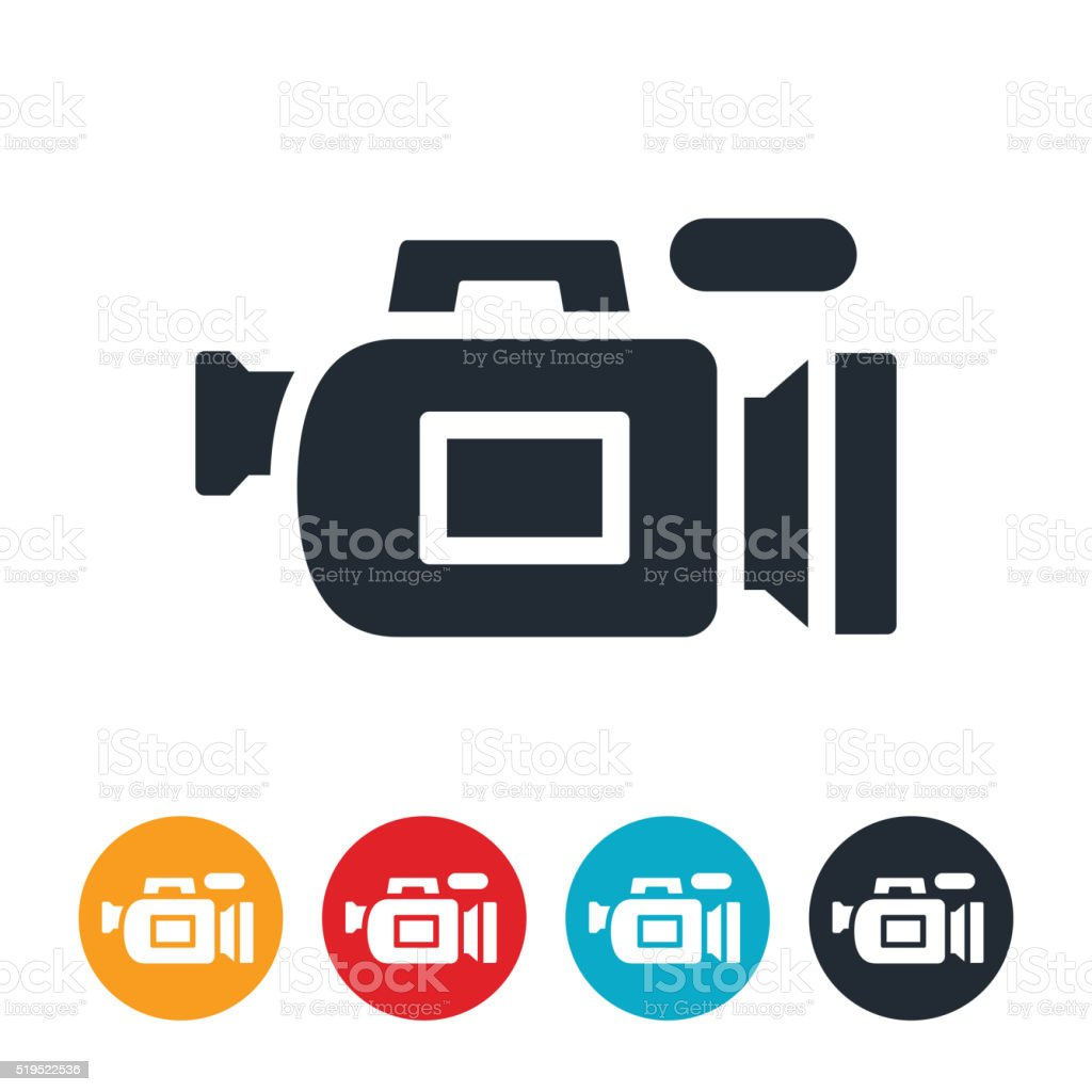 Video Camera Icon vector art illustration