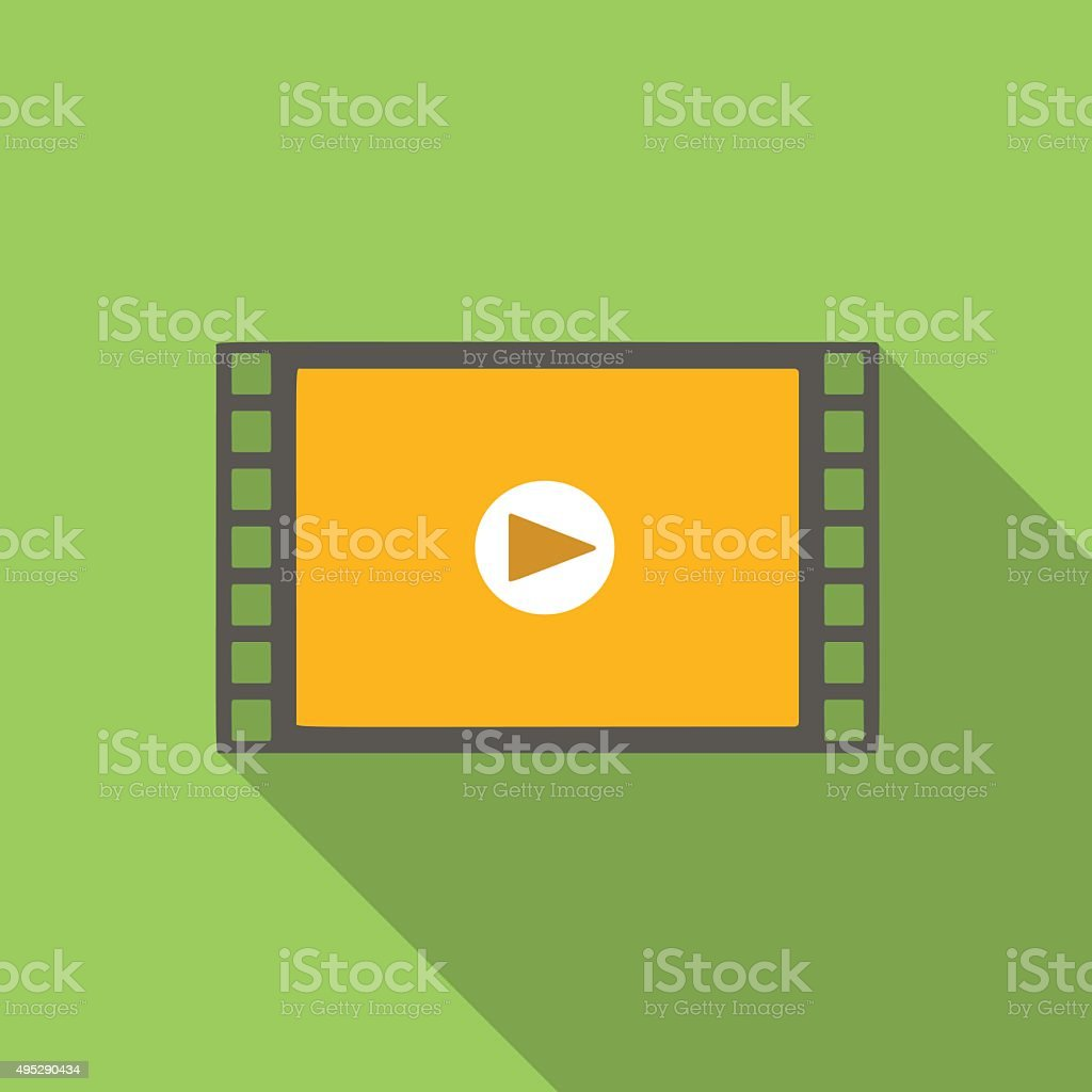 Video flat icon vector art illustration