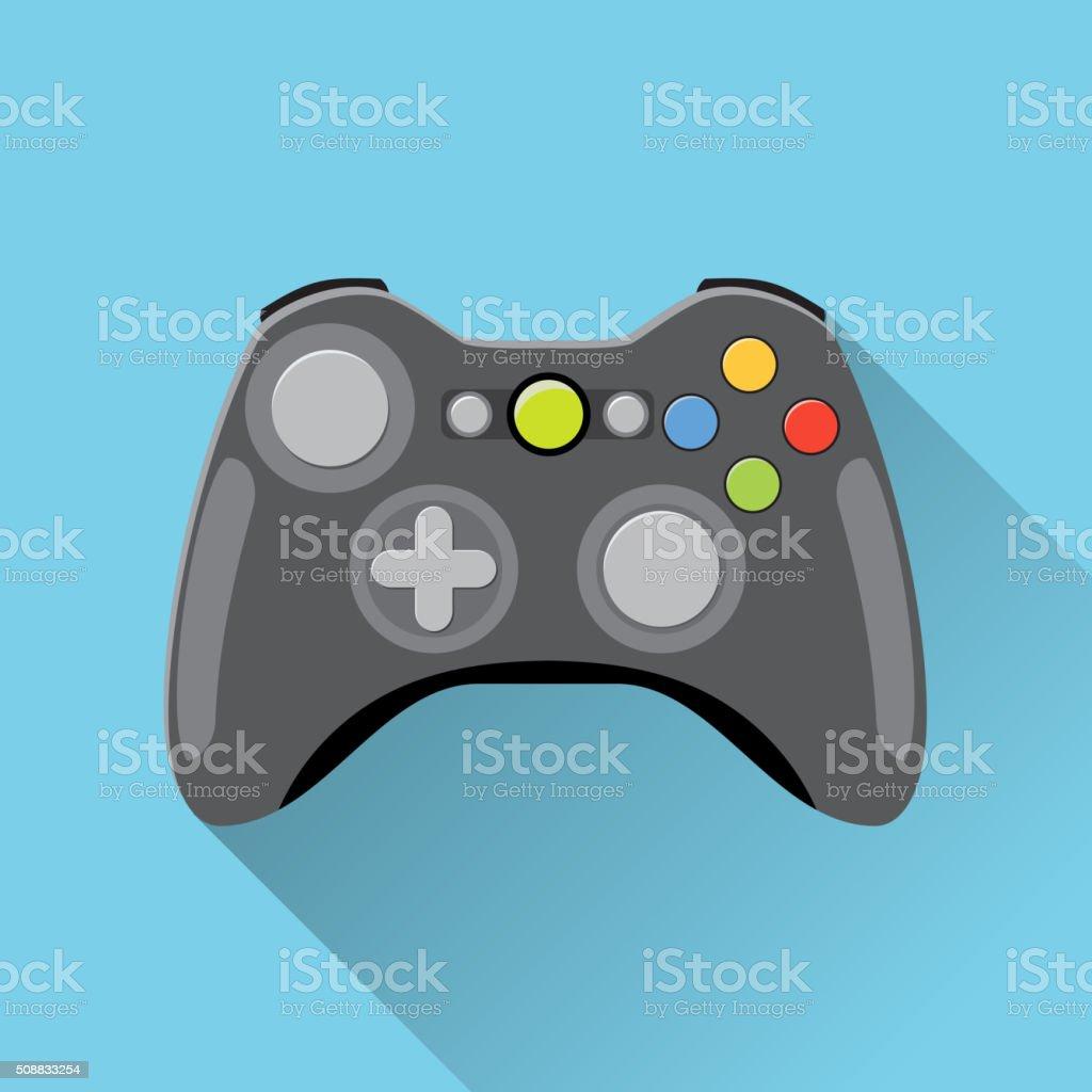 Video game Controller Icon. vector art illustration