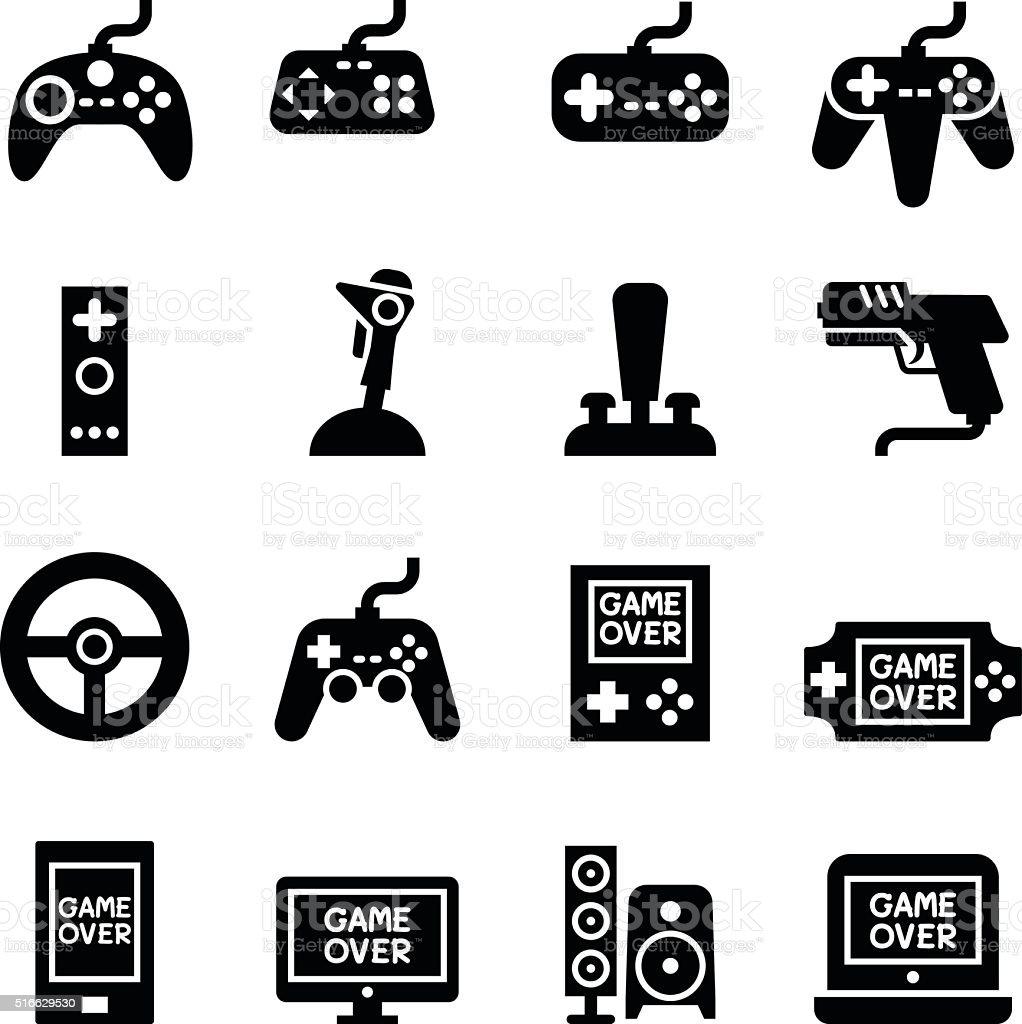 Video game Controller, Joystick Gamepad icon vector art illustration