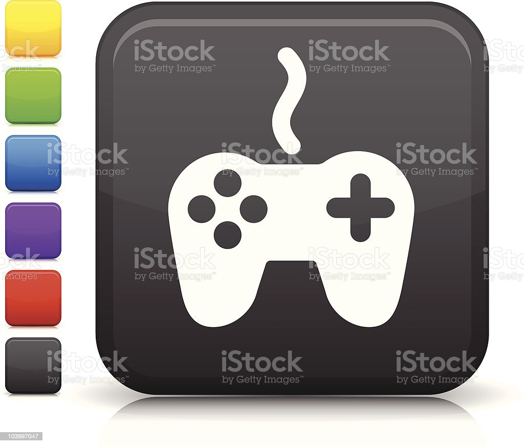 video game controller square icon royalty-free stock vector art