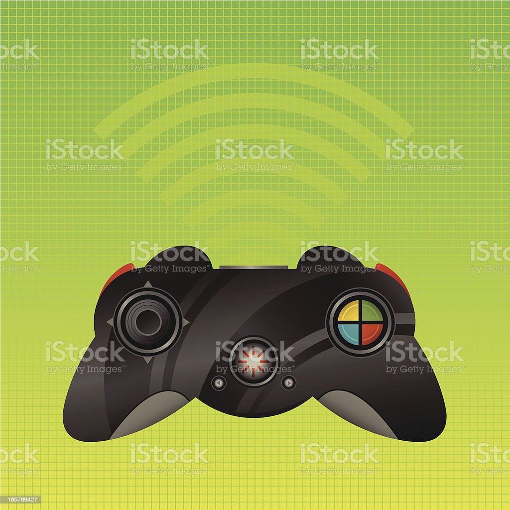 Video Game Controller royalty-free stock vector art