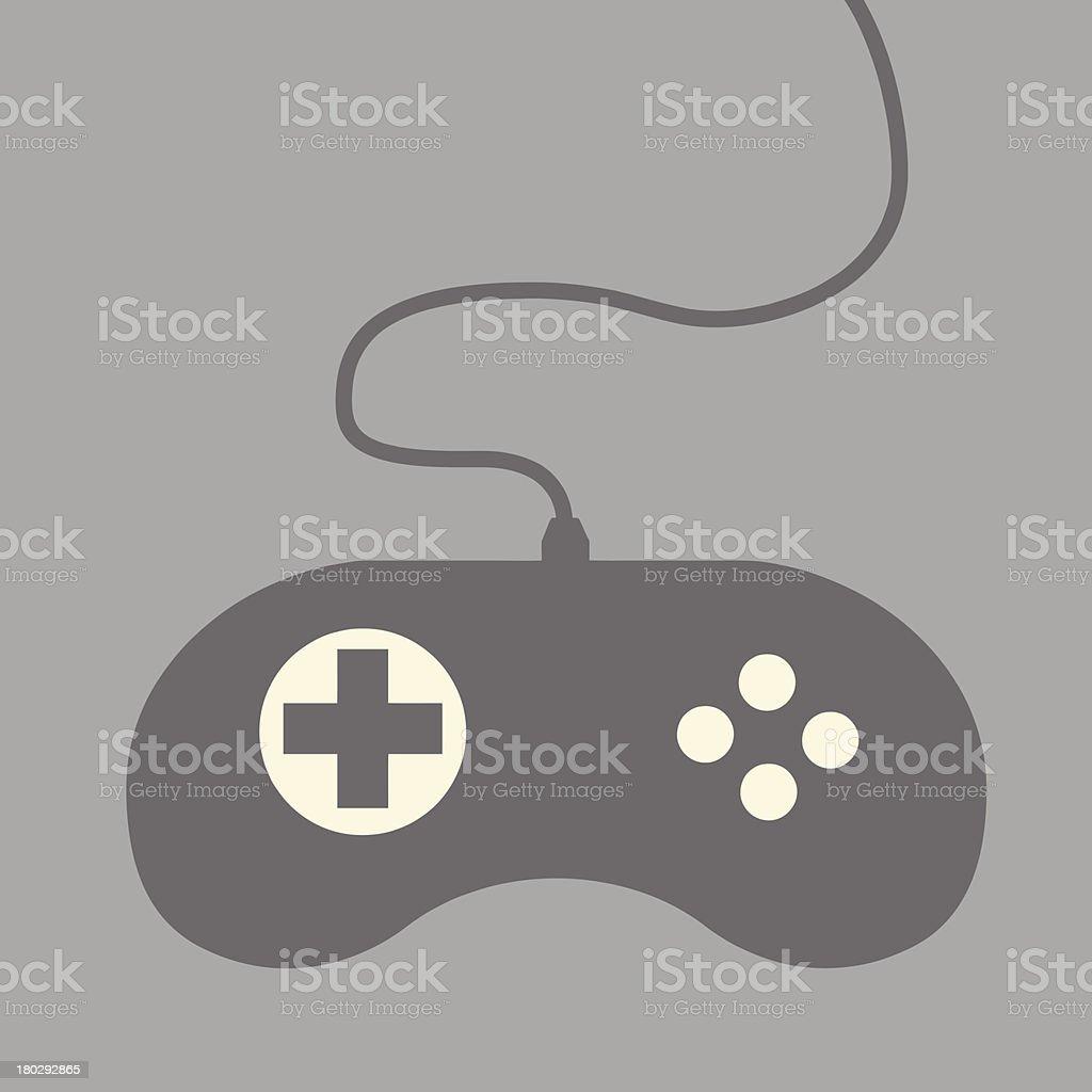 Video Game Controller vector art illustration