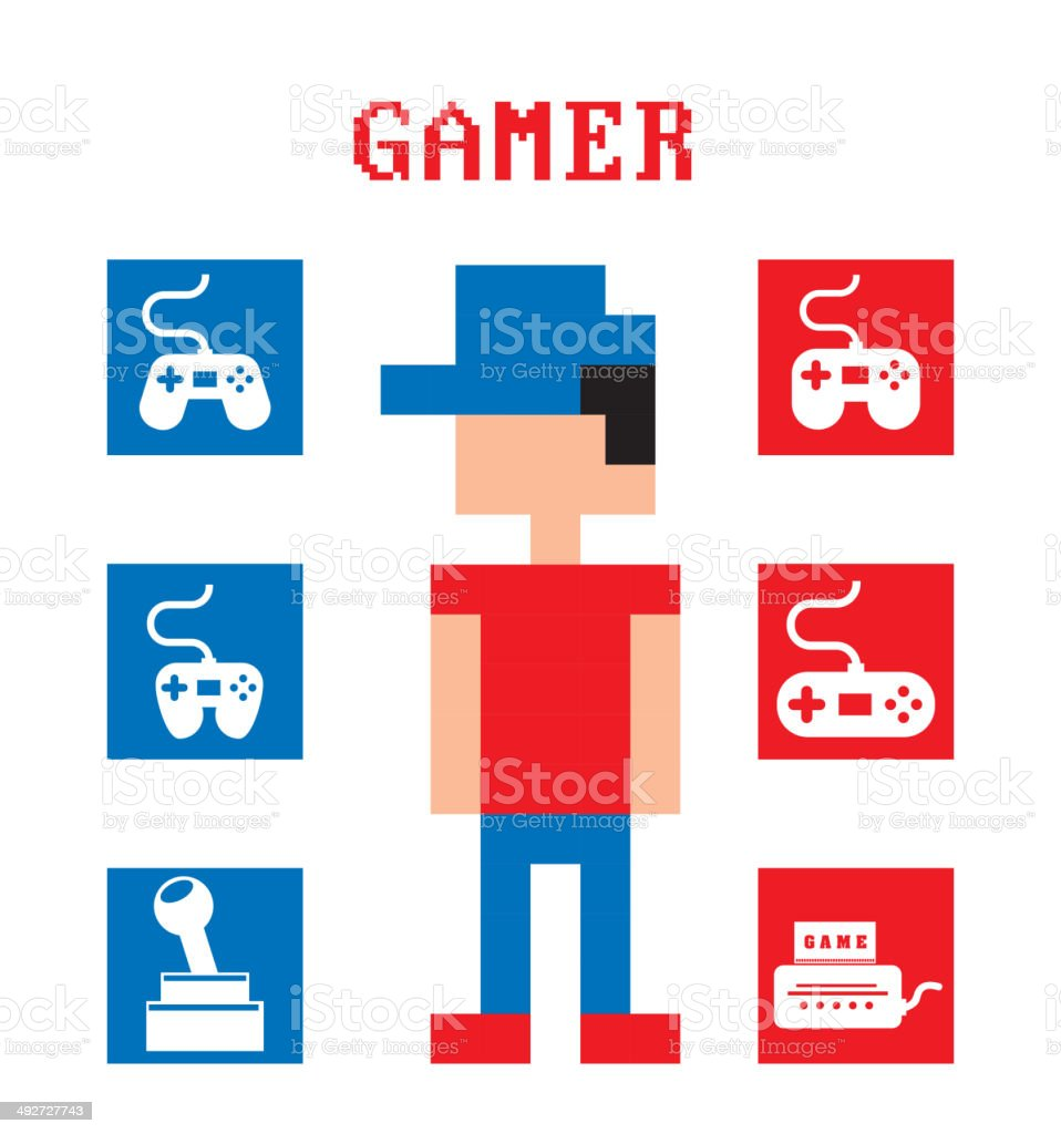 Video game design vector art illustration