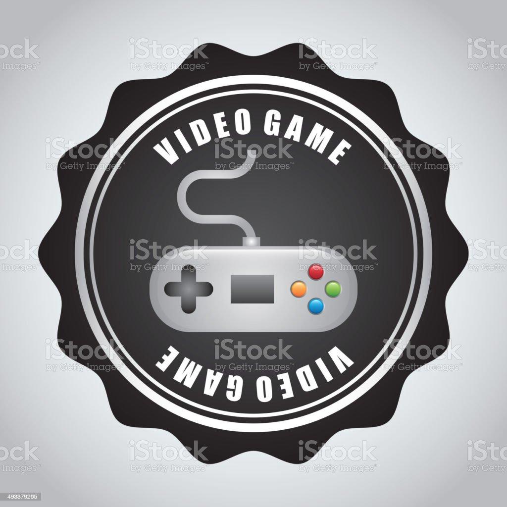 Video game design royalty-free stock vector art