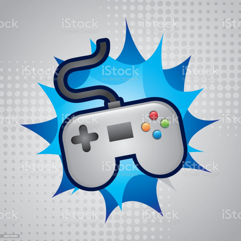 Video game design royalty-free stock vector art