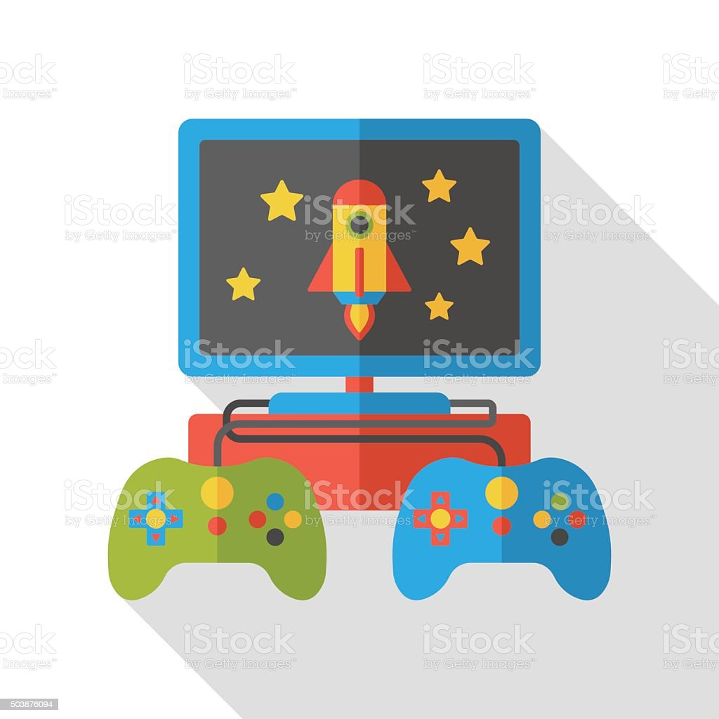 video game flat icon vector art illustration