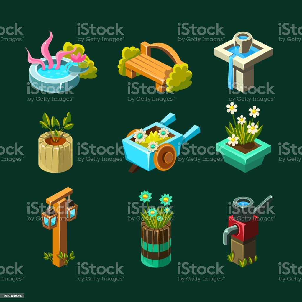 Wooden Barrel Top Object 3d Design Isolated Clip Art Vector