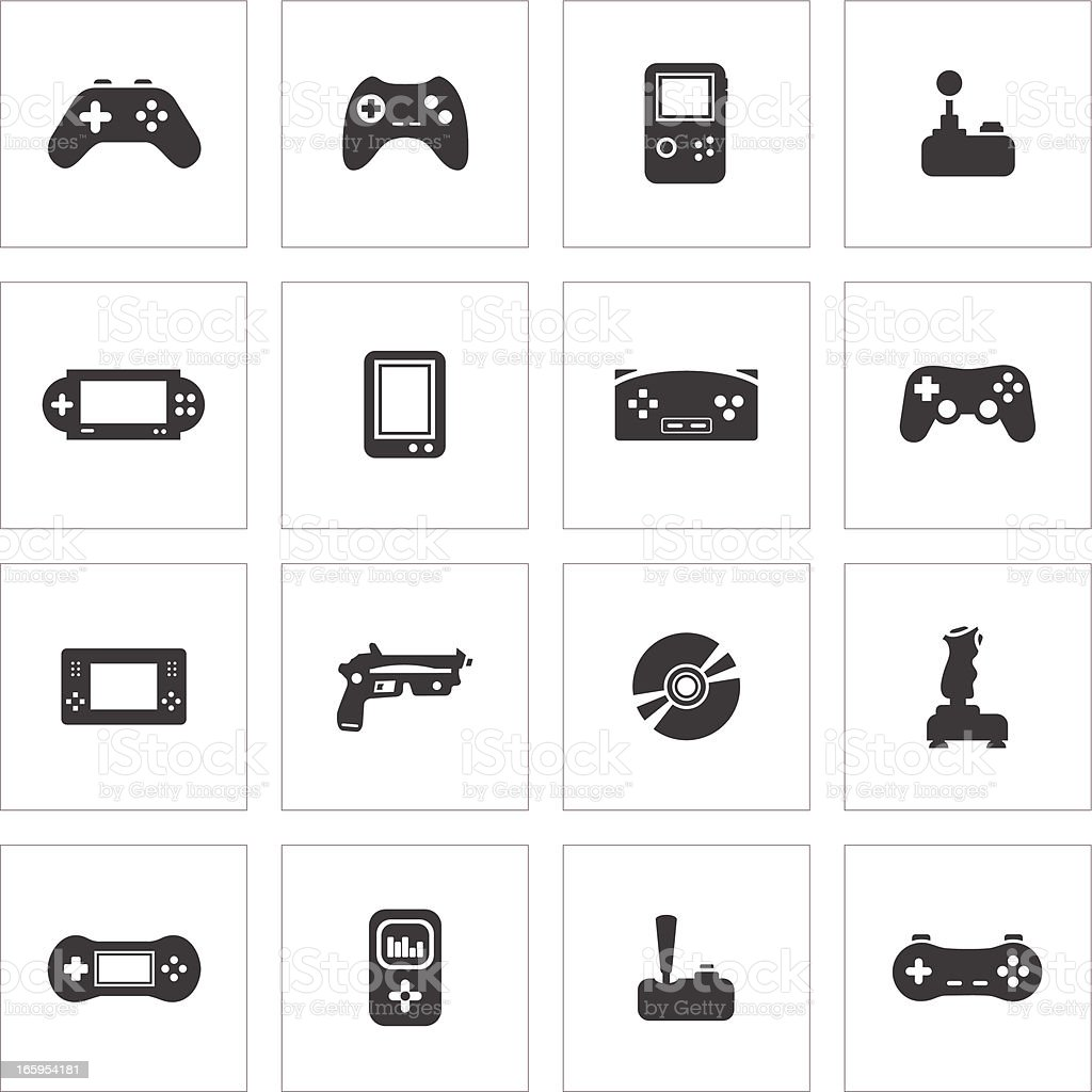 Video Game Icons royalty-free stock vector art
