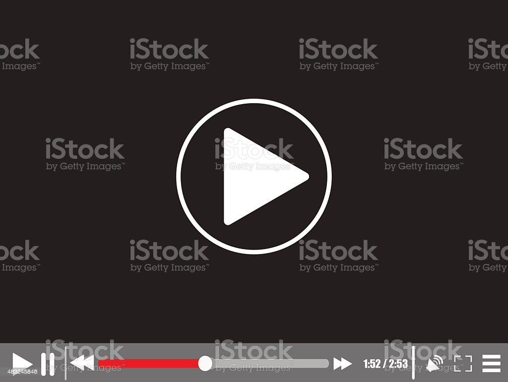 Video media player vector art illustration