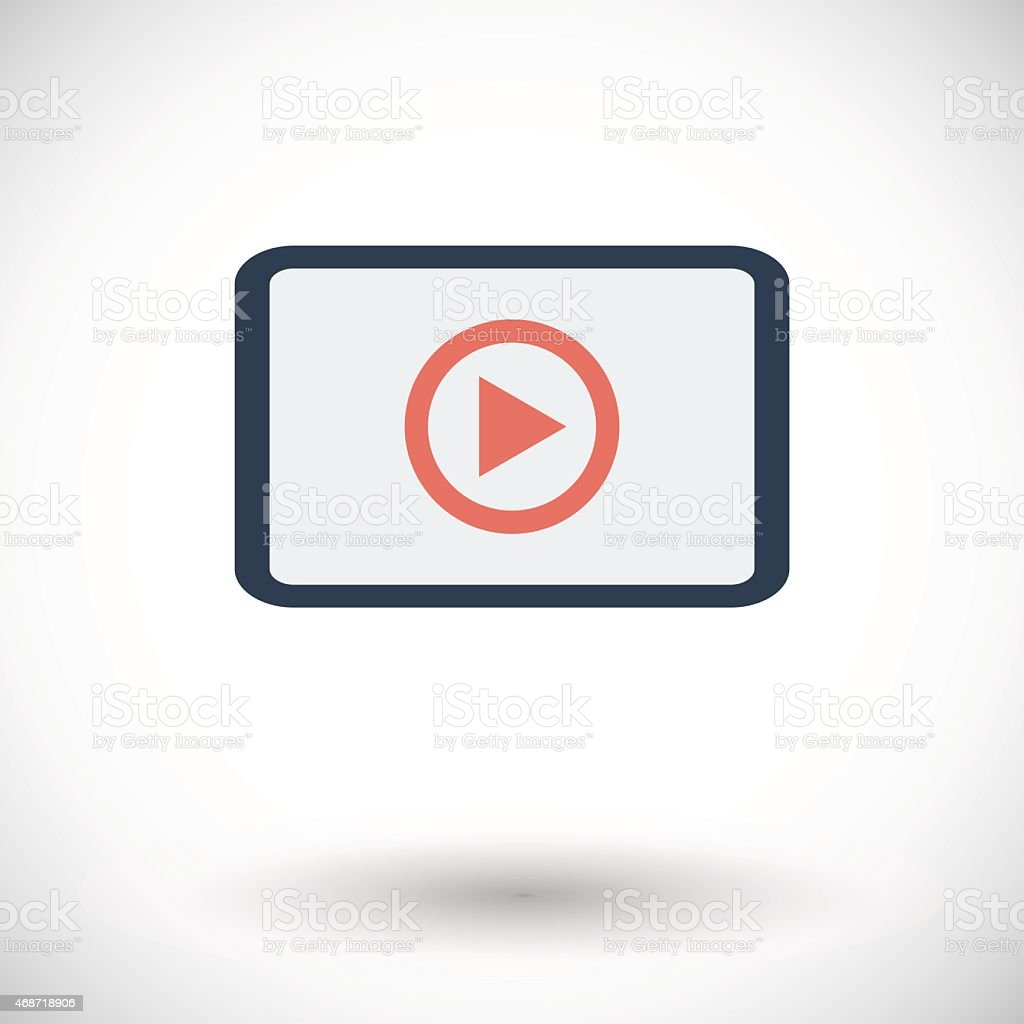 Video player flat icon vector art illustration