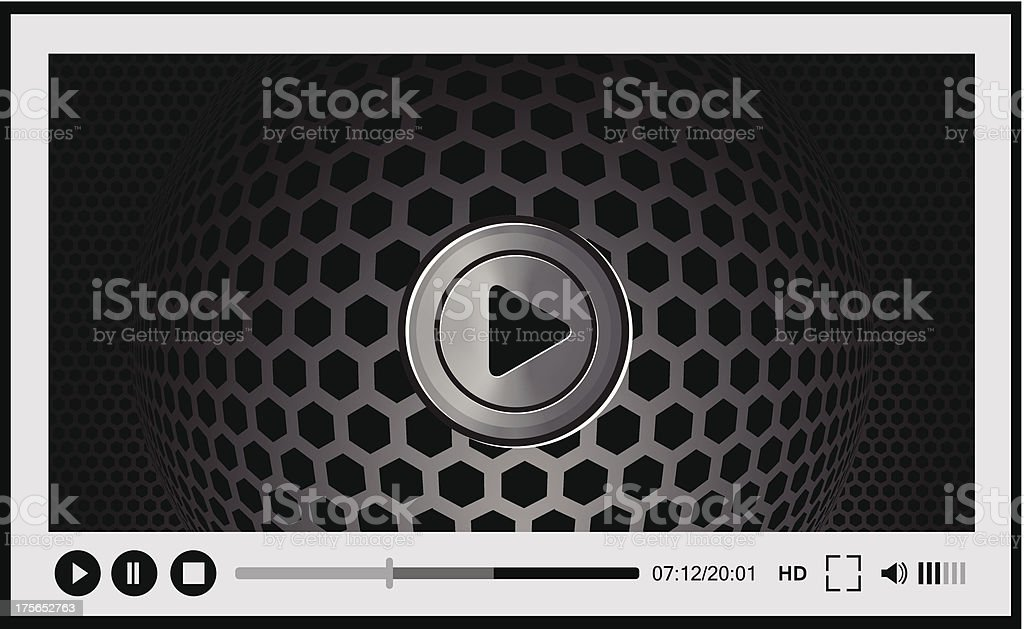 Video player for web, royalty-free stock vector art