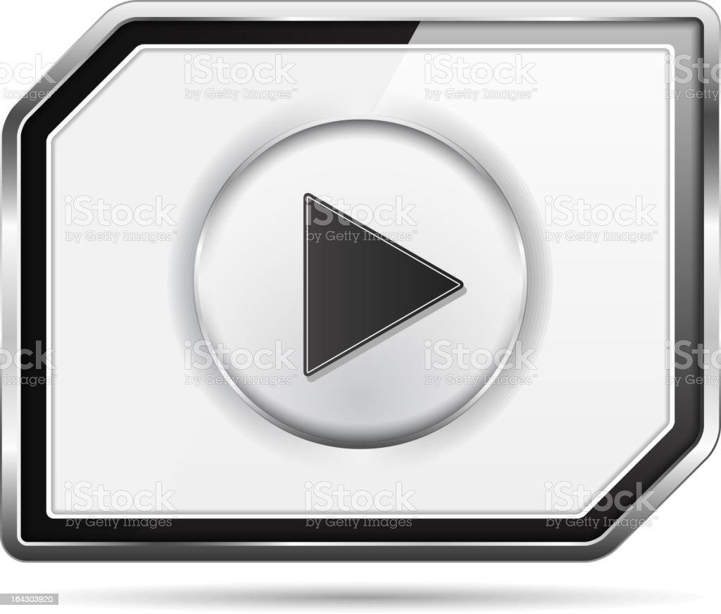 Video Player Icon royalty-free stock vector art