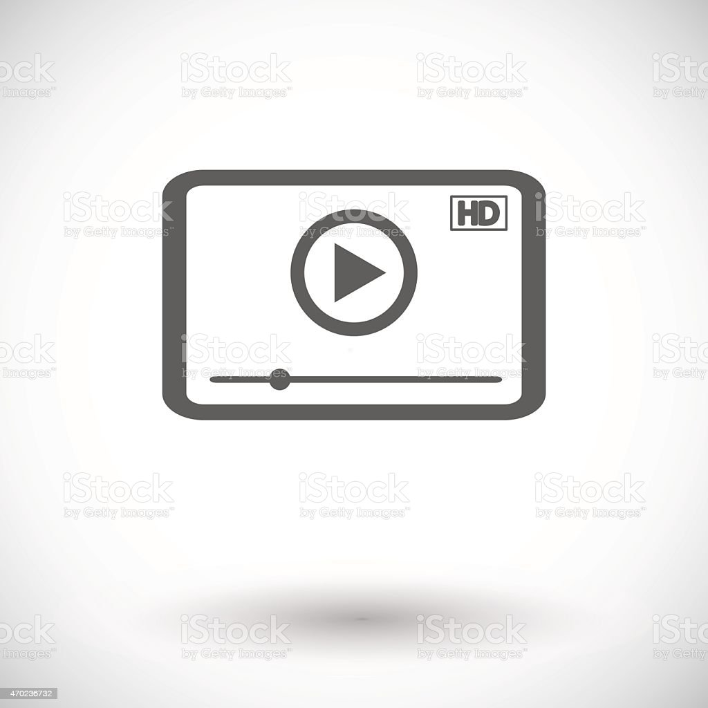 Video player icon vector art illustration