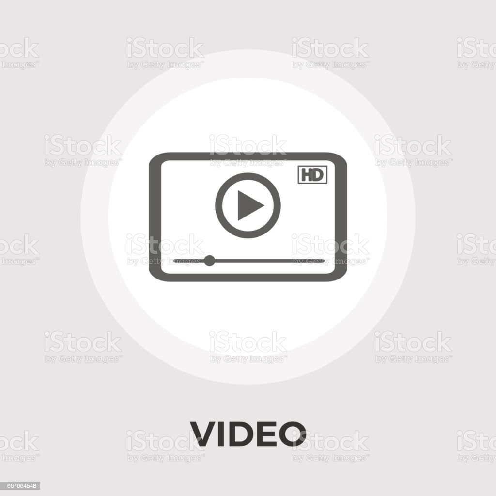 Video player icon vector. vector art illustration