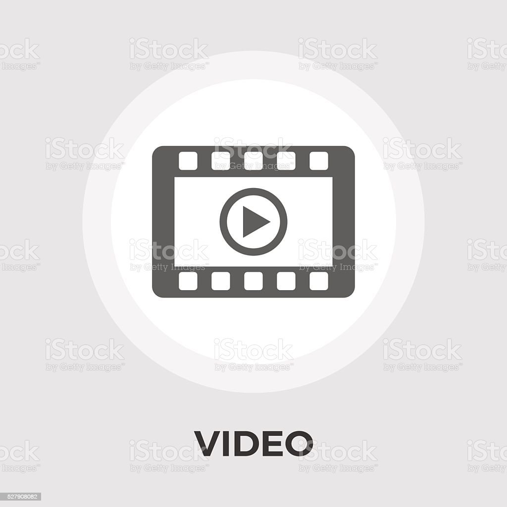 Video player vector flat icon vector art illustration