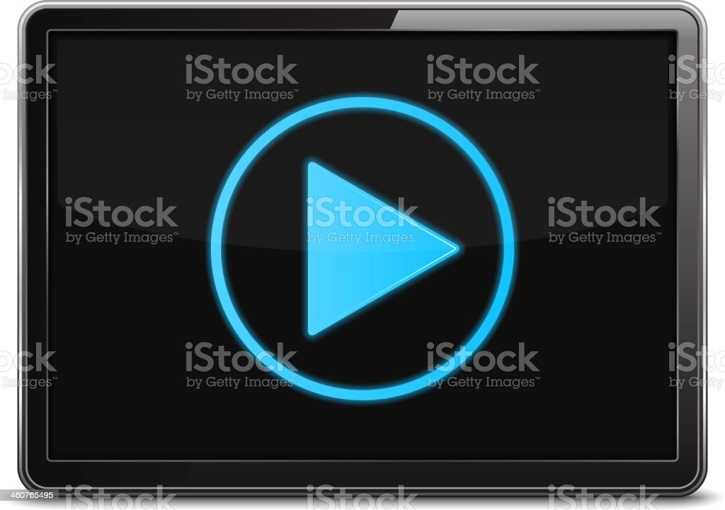 Video Player vector art illustration