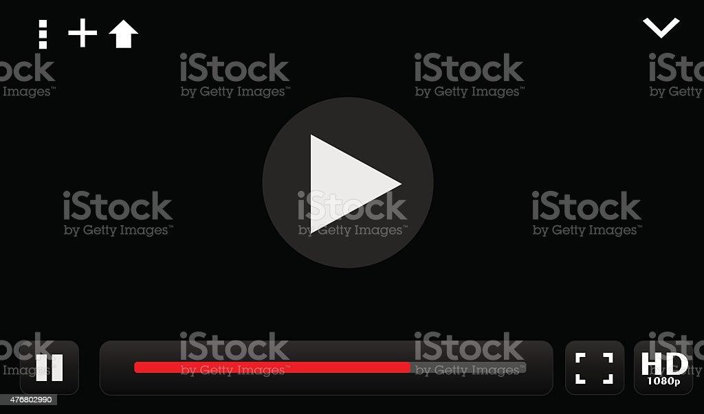 Lecteur vidéo stock vecteur libres de droits libre de droits