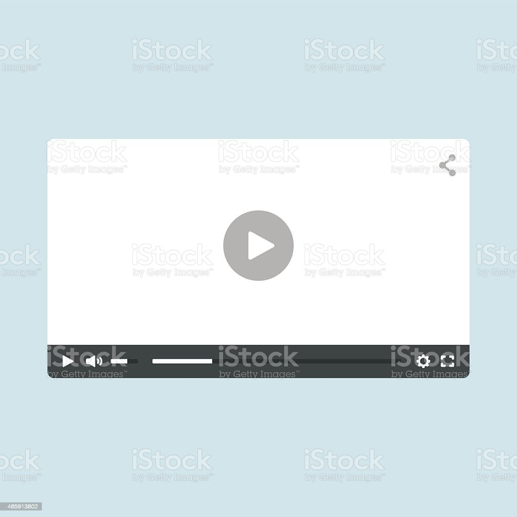 Video Player vector art illustration