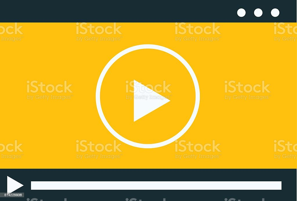 Video player vector illustration vector art illustration