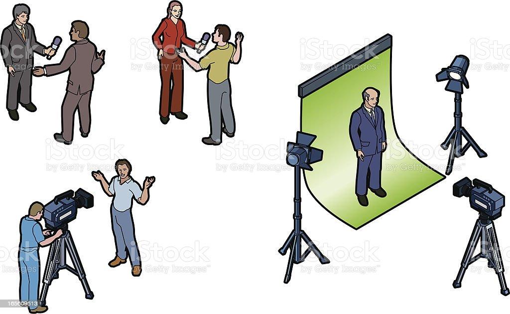 Video shoot royalty-free stock vector art