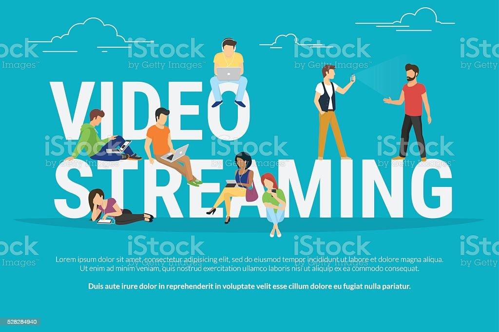 Video streaming concept illustration vector art illustration
