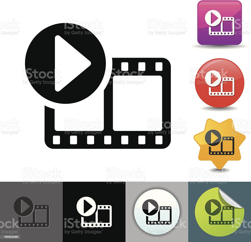Video streaming icon   solicosi series vector art illustration