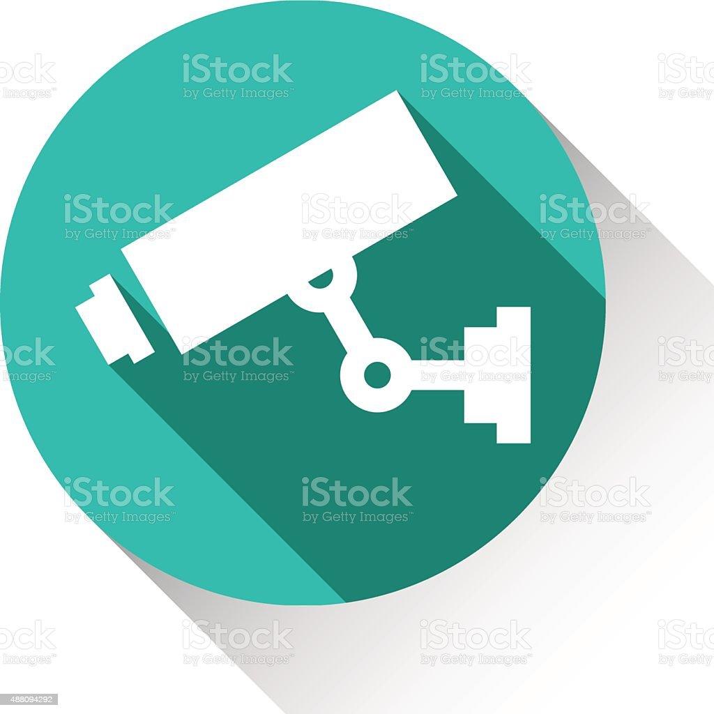 Видео камеры видеонаблюдения векторная иллюстрация