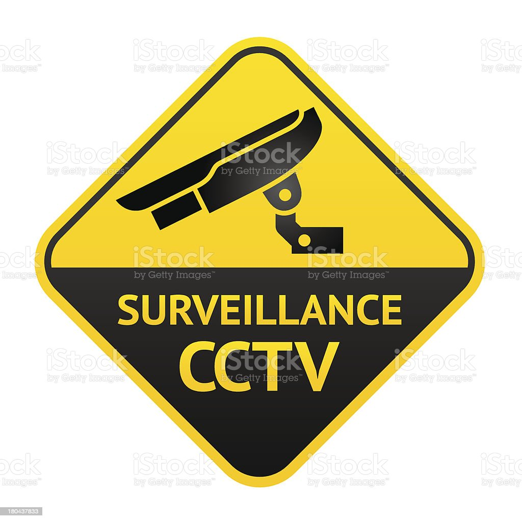 Video surveillance cameral, CCTV vector art illustration