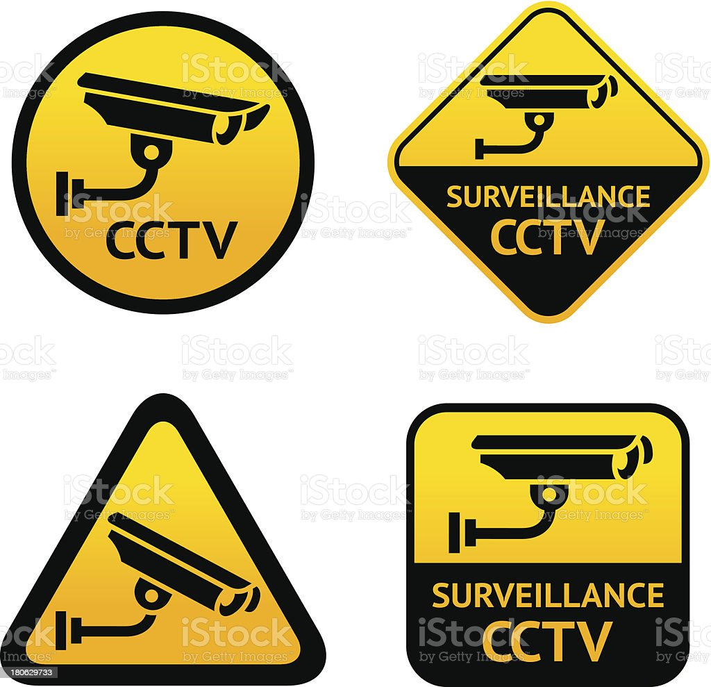 Video surveillance, new set stickers royalty-free stock vector art