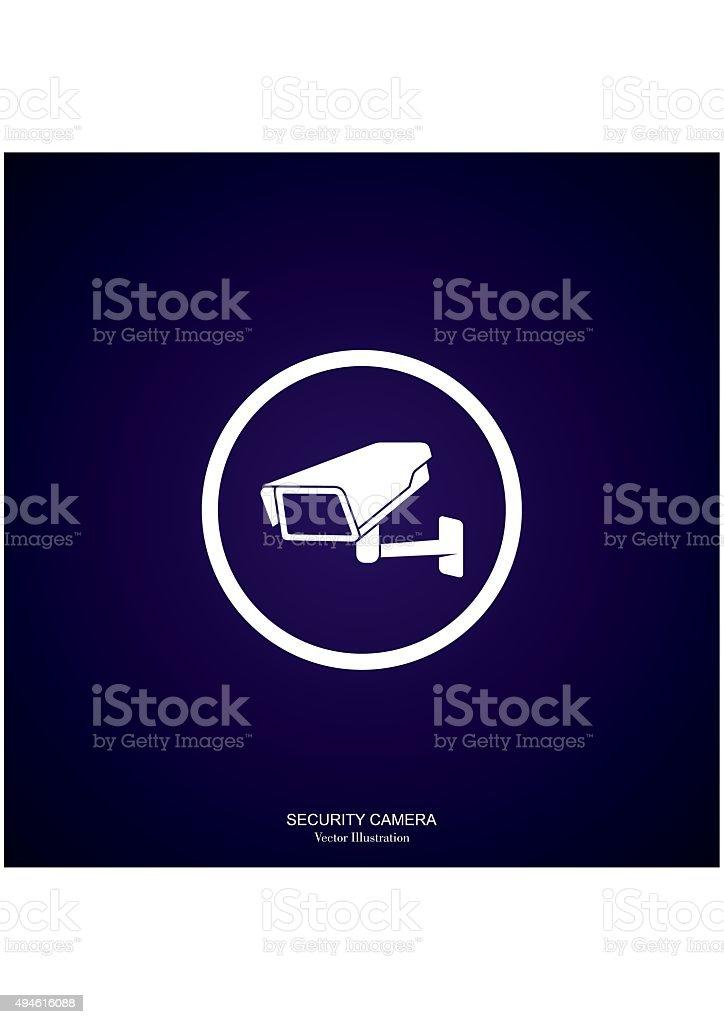 Video Surveillance Security Camera. Vector vector art illustration